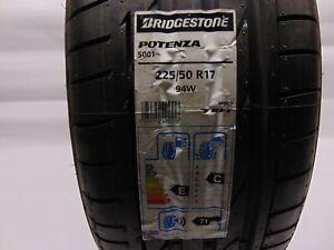 NEW 225 50 17 225/50R17 Bridgestone Potenza S001 94W RYNFLAT TYRE BMW