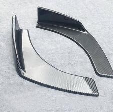 2X Winglet Type Style Carbon Fiber Front Bumper Lip Diffuser Splitters Canard
