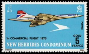 BRITISH NEW HEBRIDES 204 (SG207) - Concorde First Commercial Flight (pf61622)