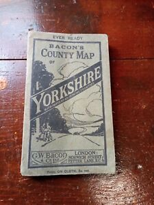 Bacon's County Map Of Yorkshire Circa 1910.