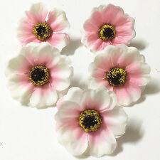 8 pièces rose 50mm Fleurs Artificielles Cerise fleurs Fête Décoration De Mariage