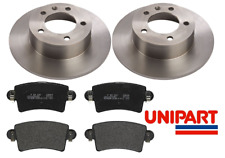 For Vauxhall - Movano MK1 CDTI DTI 2000-2010 Rear Brake Discs & Pads Set Unipart