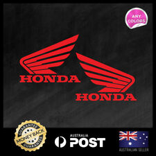 2x HONDA WING FUEL TANK STICKER DECAL MOTOCROSS MOTOR CYCLE  110x90mm