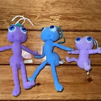 1998 Disney Pixar Bugs Life Plush Toys Flik Princess Atta Dot Stuffed Purple