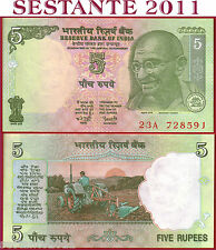 INDIA   5 RUPEES ND 2002 - P 88Ad   Sign. 89  No Lettera  -   FDS / UNC