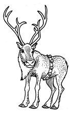 Unmounted Rubber Stamps, Wildlife, Deer, Christmas Stamps, Reindeer, Animals