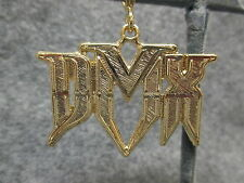 NOS DMX Hip Hop Rapper Bling Shiny Gold Tone Pendant Charm w/ Etched Accents