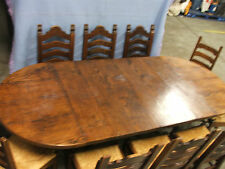 Fantastic Solid Oak Extendable Drawer Leaf Dining Table with Ten Chairs