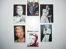 Lot  6  Cartes Postales   DAVID  BOWIE   Postcards