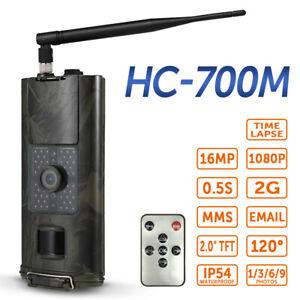 2G Wildkamera 16MP 1080P Jagdkamera PIR Nachtsicht 0.5s SMS GSM MMS HC-700M G5U1
