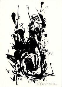 Platschek, Hans; Steinigung der Nacht, Lithografie, signiert, 1960