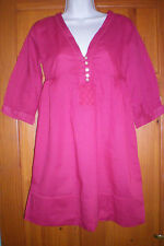 SIZE 8 HOT PINK  TUNIC STYLE TOP  COTTON NEW WITHOUT TAGS CHRISTMAS SALE