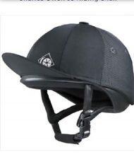 NIB Charles Owen J3 Astm Jockey Skull Helmet Black 6 1/2 Riding With Cover