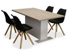 KMH Esszimmersitzgruppe Essgruppe Stuhlgruppe Esszimmergarnitur modern schwarz