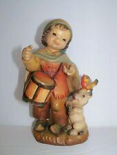 "New listing 6"" Anri Ferrandiz Wood Carving Italy Little Drummer Boy Signed"