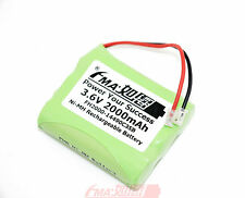 2x Ni-MH 3.6V 2000mAh Rechargeable Battery Universal Plug for Cordless Phone US