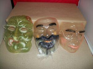 Vintage Lot of 3 Halloween Masks