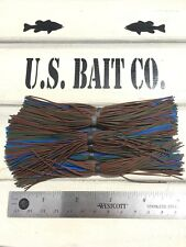 Bass Jig Skirts Living Rubber Lot Of 10 Color Brown Green Blue
