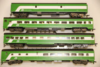 HO Rivarossi BURLINGTON NORTHERN 1930's 4 Car Passenger Set A