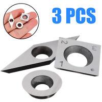 Schraube für Holz Drehwerkzeug 12mm Rund Hartmetalleinsatz Cutter Wendeplatten