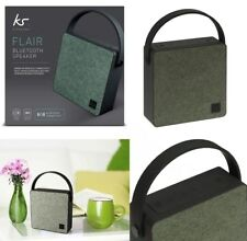 KitSound Flair Universal Rechargeable Wireless Portable Bluetooth Speaker Green