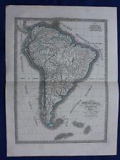 Original antique map SOUTH AMERICA, 'AMERIQUE MERIDIONALE', C.V. Monin, 1837