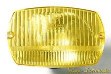 VESPA Lampe Scheinwerfer Trapez / Gelb - V50 Spezial Special Inkl. Sockel Eckig