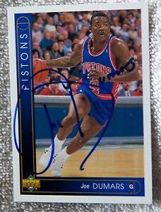 Detroit Pistons Joe Dumars Signed 93/94 Upper Deck Card Auto