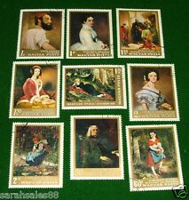9 Stamp Lot Magyar Posta Paintings: Hungary LANYI SAMUEL, MIKLOS, MIHALY, ALAJOS