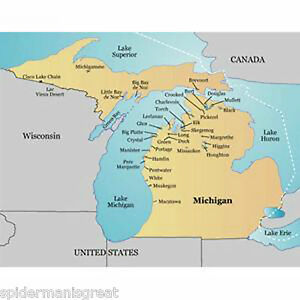 Garmin LakeMaster Michigan MicroSD Maps Data Card