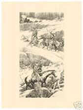 Bev Doolittle Original Stone Litho Shoshone Switchback