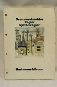 Buch Hartmann & Braun Grenzwertmelder Regler Systemregler SB