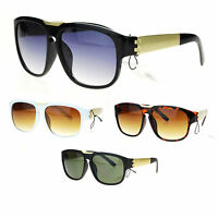 98dcf1d144 Mens European Mobster Flat Top Key Hole Plastic Aviator Sunglasses