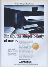 "Bose ""Simple Beauty Of Music"" 1993 Magazine Advert #681"