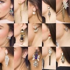 Womens Fashion Earring Jeweller Stud Hanging Flower Heart Dimonte -Joblot 40 pcs