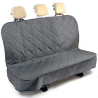 Heavy Duty Grey Premium Quilted Rear Sear Bench Pet Dog Cover Protector