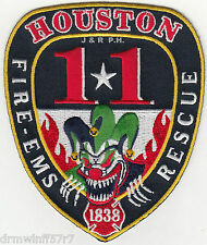 "Houston Station - 11  Fire - Rescue, TX  (3.75"" x 4.5"" size) fire patch"