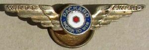RARE PACKARD WWII GOLD CLOISONNE' WINGS PIN VERY NICE L@@K #G981