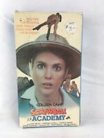 Screwball Academy 1986 VHS Tape Comedy Goofy 1980s Colleen Camp Kenneth Welsh