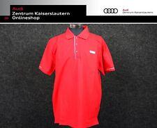 Audi Sport Original Poloshirt Herren Rot Polo Shirt Männer 313150121 Gr. L