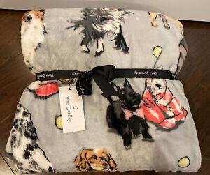 NEW Vera Bradley BEST IN SHOW Throw Blanket Plush - 80x50 - Dogs - NWT