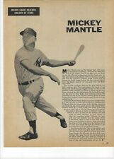 1960 Mickey Mantle New York Yankees Major League Baseball Magazine Page Print Ad