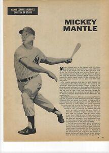 1960 Mickey Mantle New York Yankees Major League Baseball Magazine Page Print Ad