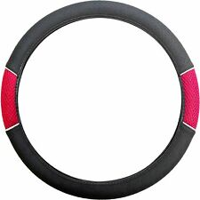 CAR Car steering wheel glove cover holder silver RED chrome QUALITY sleeve van