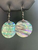 natural Abalone shell Boho Bohemian Drop Dangle Pierced Earrings 2""