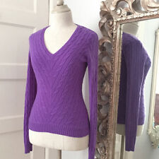 Ralph Lauren V-Neck Chunky, Cable Knit Women's Jumpers & Cardigans