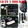 18 IN 1 Emergency SOS Equipment Kit Outdoor Camping Hiking Survival Gear Sets