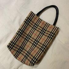Vintage Authentic Burberry Check Mini Bag, Perfect Condition.