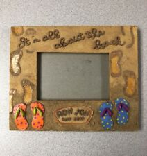 "Ron Jon Surf Shop Beach Vacation Picture Frame ""Its All About The Beach"""