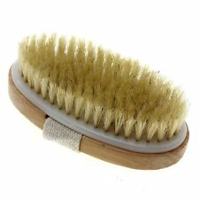 Touch Me Dry Skin Bath Body Brush Natural Boar Bristle Spa Sauna Exfoliator NEW